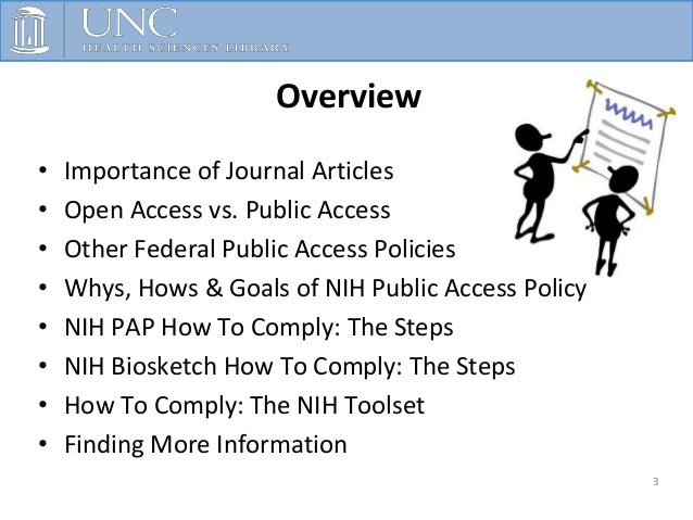 NIH Biosketch & Federal Public Access Policies Slide 3
