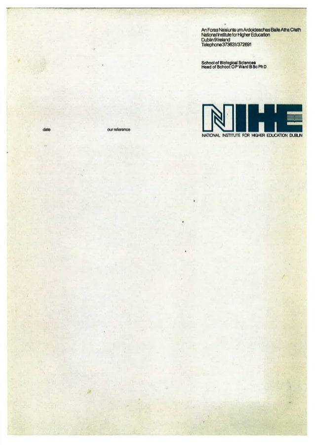 Nihe letterhead