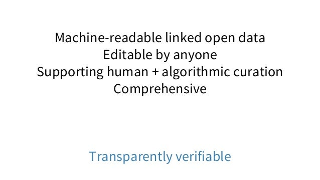 3. Wikidata: Collaboratively curated linked open data