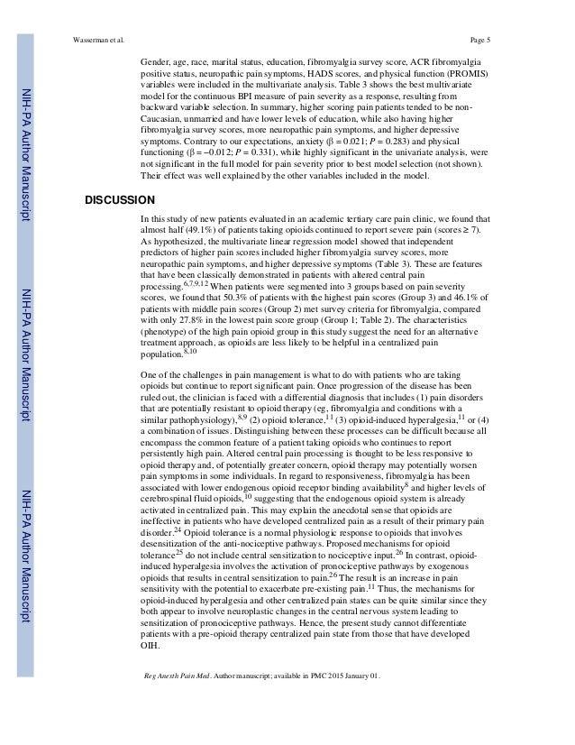 Gender, age, race, marital status, education, fibromyalgia survey score, ACR fibromyalgia positive status, neuropathic pai...