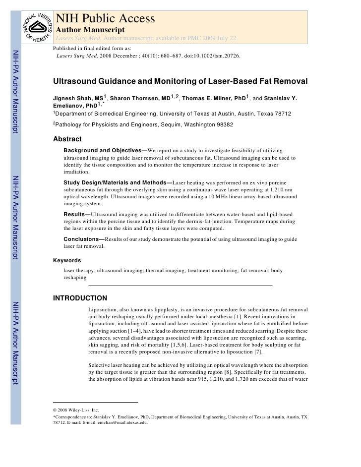 NIH Public Access                            Author Manuscript                            Lasers Surg Med. Author manuscri...