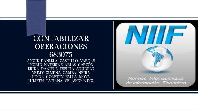 CONTABILIZAR OPERACIONES 683075 ANGIE DANIELA CASTILLO VARGAS INGRID KATERINE ARIAS GARZÓN ERIKA DANIELA ESPITIA AGUDELO Y...