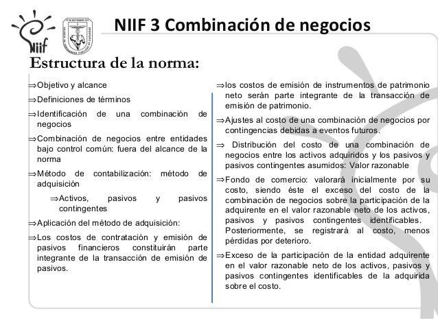 Niif 3 Combinacii N De Negocios