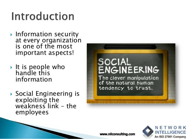Social Engineering - Exploiting the Human Weakness Slide 3