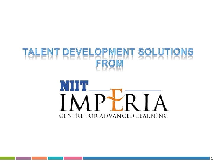 1<br />Talent development solutions<br /> from<br />