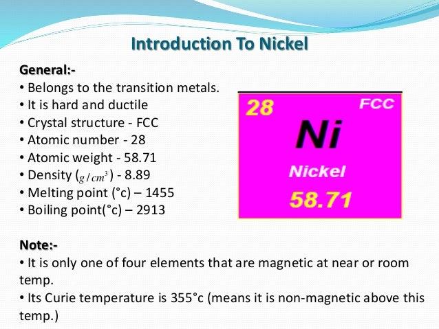 Nickel Oxidation Room Temperature