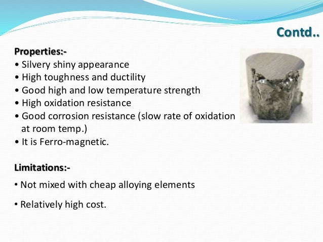 Physical And Chemical Properties Of Nickel