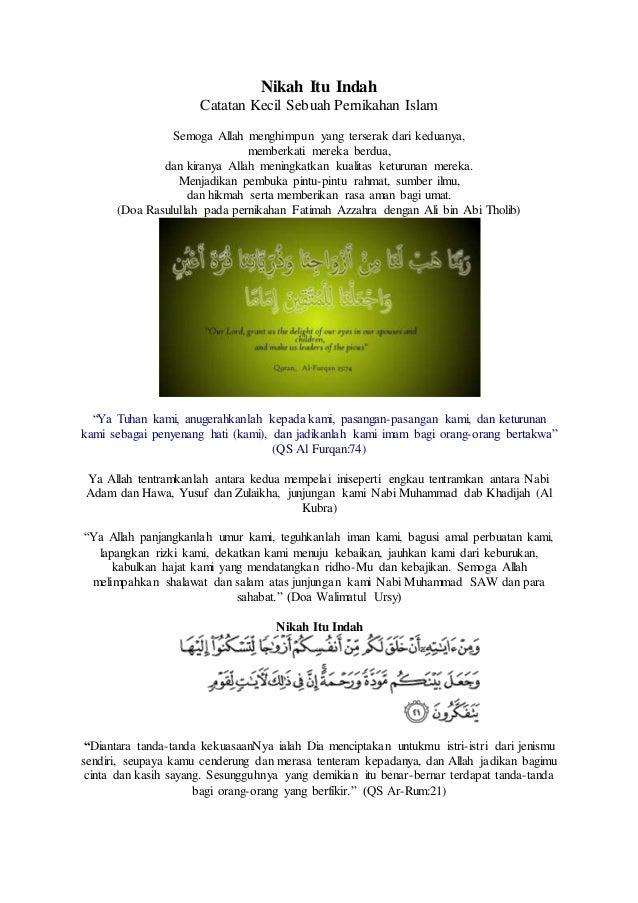 Nikah Itu Indah Catatan Kecil Sebuah Pernikahan Islam Semoga Allah menghimpun yang terserak dari keduanya, memberkati mere...