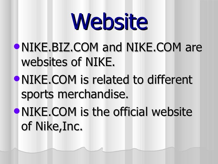 info for 4df41 55851 Sports personalities sponsored by NIKE  14. Website  ul  li NIKE.