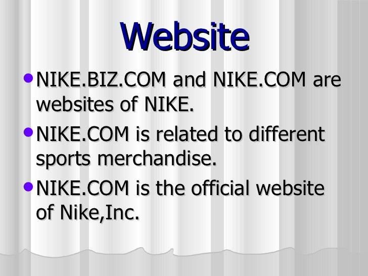 info for e6d81 2c661 Sports personalities sponsored by NIKE  14. Website  ul  li NIKE.