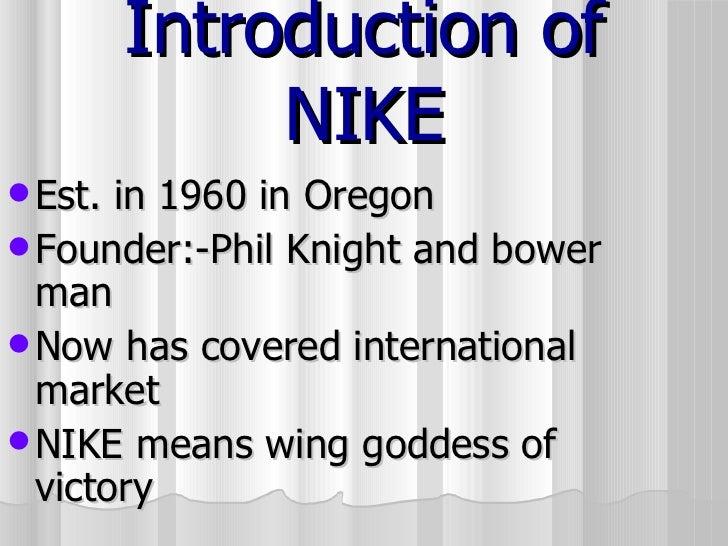 huge selection of 63186 d058a Introduction of NIKE  ul  li Est. in 1960 in Oregon ...