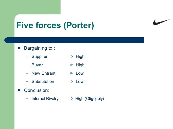 "porter five forces of reebok Strategic management project report with reference to reebok by  industry  structure (using porter""s five forces model) competitive profile matrix (based  on."
