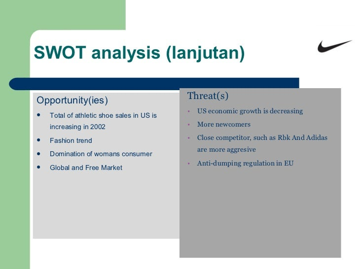 swot analysis for nike shoes 867573