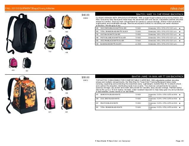quality design 1fd1c 8bcaa ... 46. 505 802 702 408 655 030  40.00 W0002 BA4735   NIKE YA CHEYENNE  BACKPACK ...