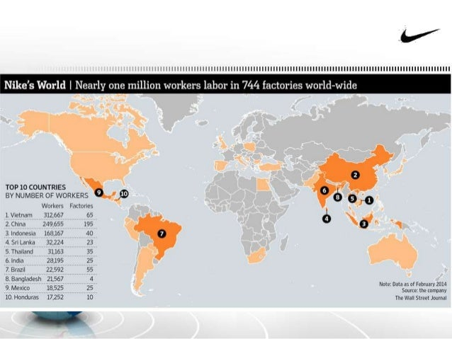 nike manufacturing locations