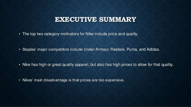 Nike Executive Summary
