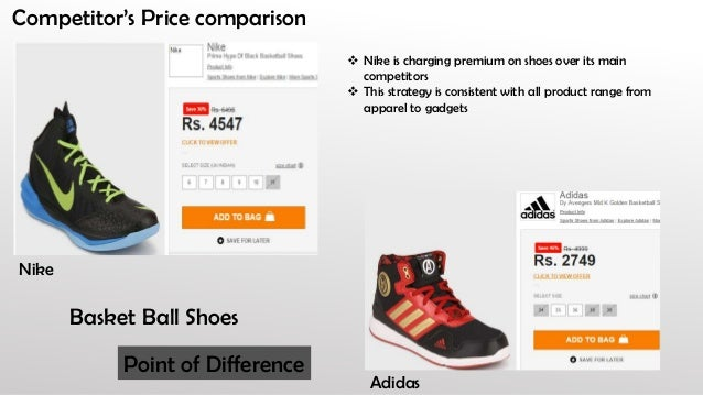 womens nike price comparison