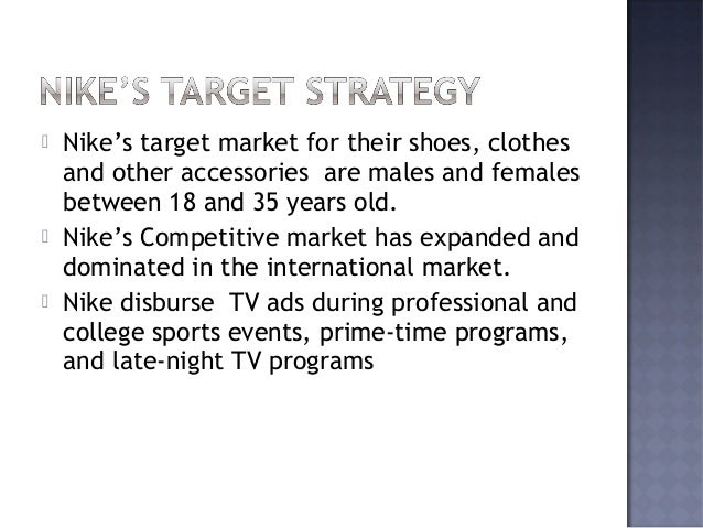 reebok target audience The marketing mix of adidas discusses where reebok is to brand equity of adidas in the apparel's market the target customer for adidas is the upper.