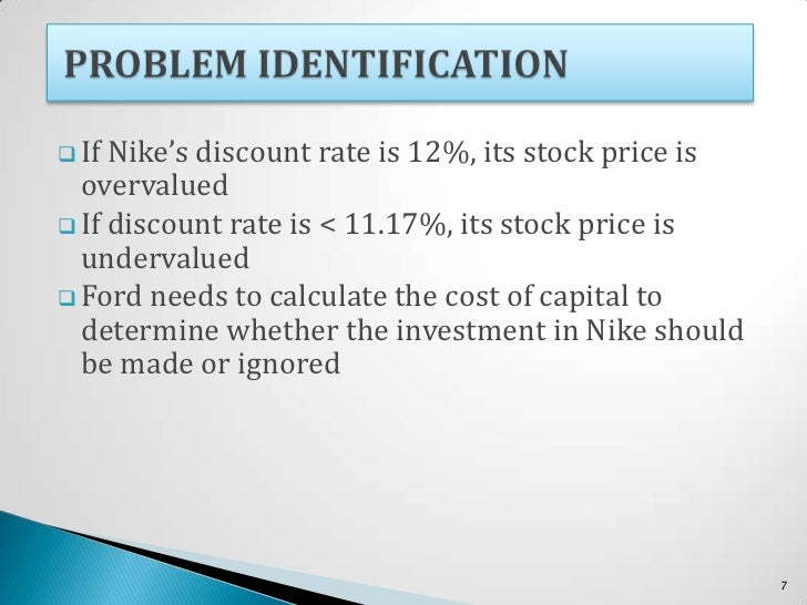 nike cost of capital executive summary Nike is now the world's leading supplier of athletic shoes and apparel consumers are becoming more cost-focused as opposed to access to capital when.