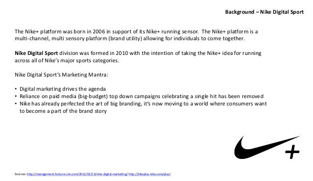 nike channel strategy It's safe to say nike's at the top of its game right now not only does it own 48% of the american athletic footwear market, but its share of the basketball footwear market is at a staggering 96% what sort of marketing strategy has nike used to achieve and maintain this level of market dominance sure, the high-profile celebrity endorsements probably play a role, but for the most part.