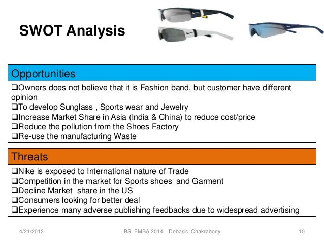 nike swot in china Nike: analysis of strengths, weaknesses, opportunities, threats, stocks:   geographically, we look for strong demand from north america and china  we  will address these issues by performing an easy-to-follow swot.