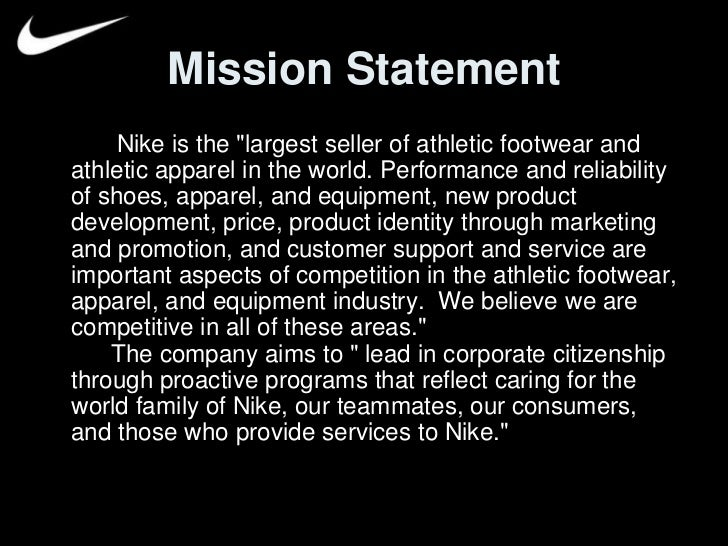 Nike Shoes Positioning Statement