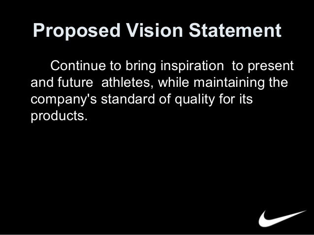 nike mission statement Get an answer for 'what is nike's mission statement and core values include: -  mission of the company its reason for existence - include the company's core.