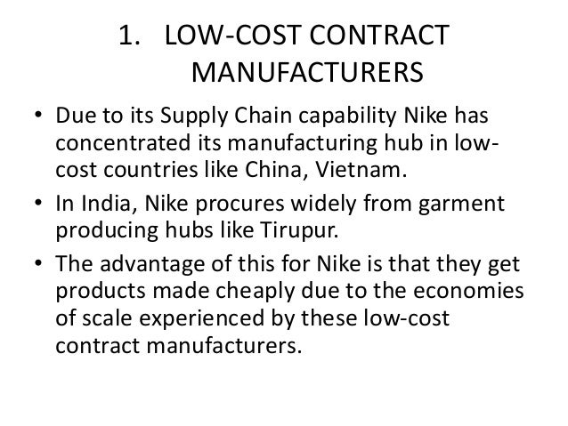 where are nike products made