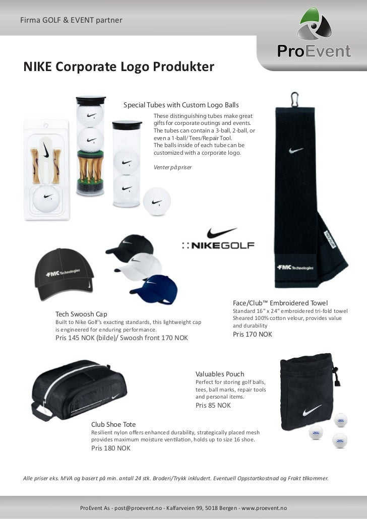 19f34f3dd97b Nike Golf Firma Profil Artikler