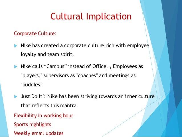 Cultural Implication Corporate Culture:  Nike ...
