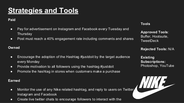 nikes strategy regarding social media advertisements Nike's clever social media strategy is paying off big time luckily, they have you to thank for all their recent shoe sales just don't expect a check anytime soon you'll never be lebron james .