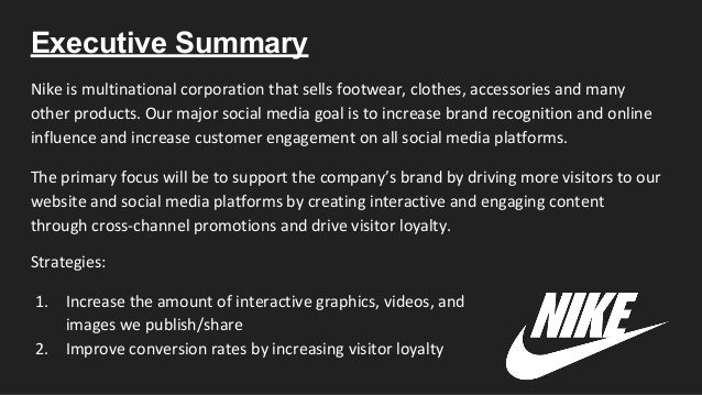 "social strategy at nike essay Nike: corporate responsibility at a ""tipping point both social and environmental and crucial to our growth strategies."