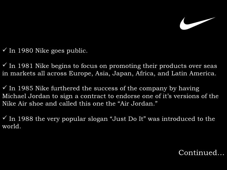Nike Inc Presentation