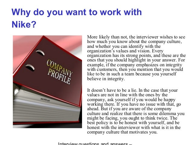 03083183340d Nike interview questions and answers