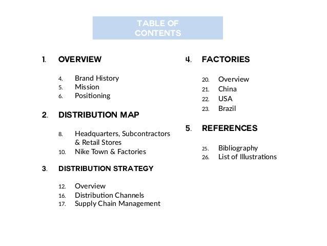 Nike Distribution system