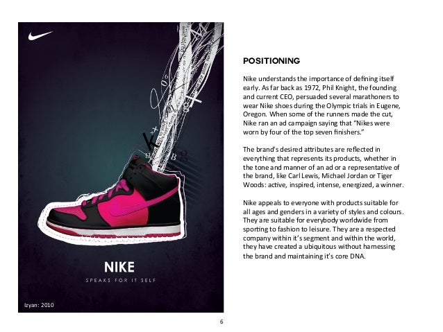 nike positioning process essay Removable massaging insole for athletic shoes the process of identifying a product's life cycle related essay: nike: need essay sample on nike marketing.