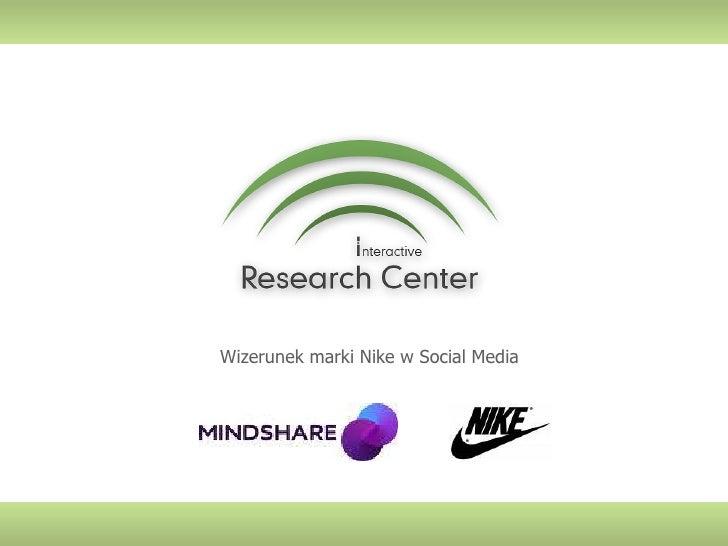 Wizerunek marki Nike w Social Media