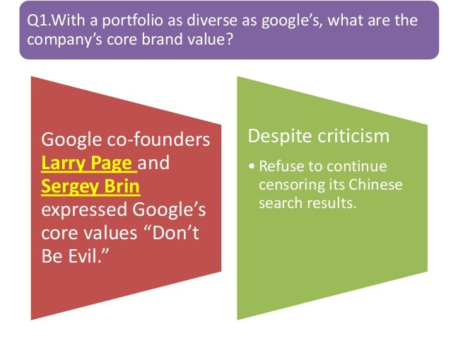 google in china case study answers Read case studies from google marketing platform customers who successfully use marketing analytics tools and intelligence to improve decision making.