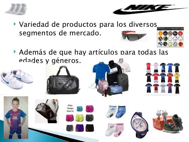 nike y sus productos