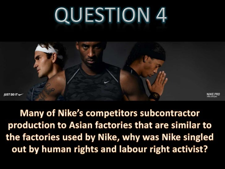nike ethics Running head: nike's responsiility for the unethial treatment of ontrated fatory workers the law determines legal accountability philosophical ethics.
