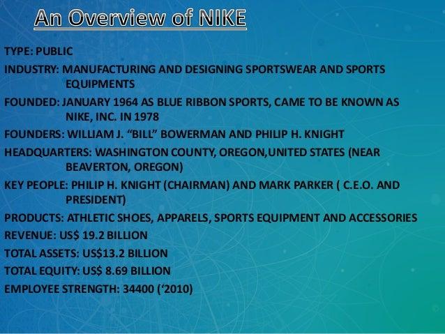 Nike presentation Slide 2