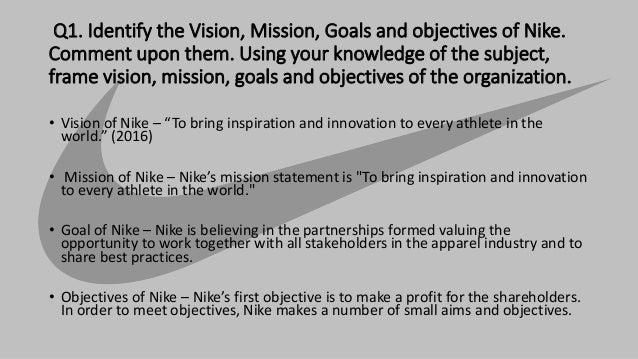 nike mission statement 2018