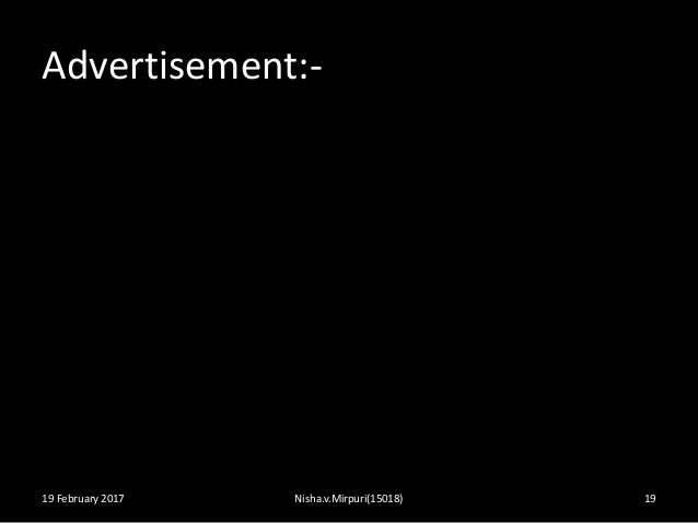 Advertisement:- 19 February 2017 Nisha.v.Mirpuri(15018) 19
