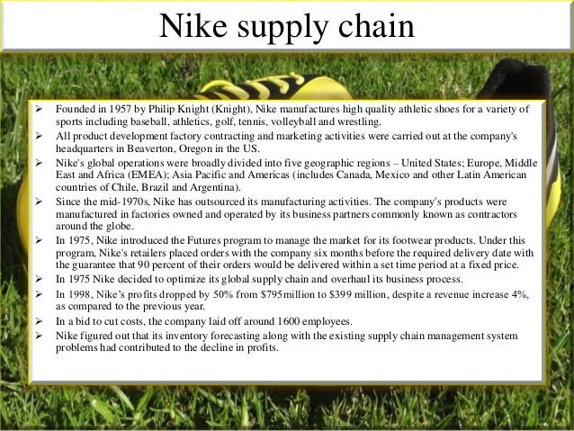 inventory problems at nike case study