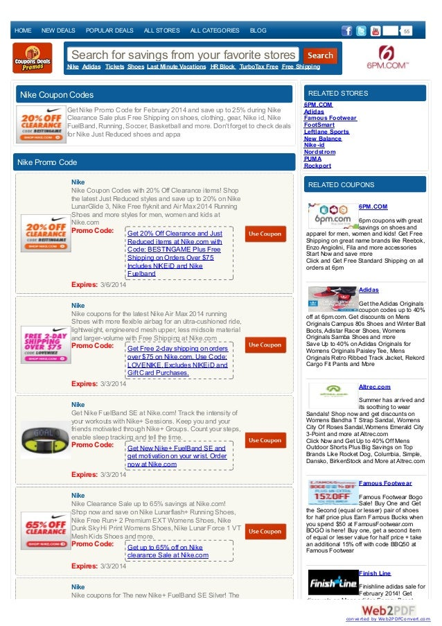 HOME  NEW DEALS  POPULAR DEALS  ALL STORES  ALL CATEGORIES  55  BLOG  Search for savings from your favorite stores Nike Ad...