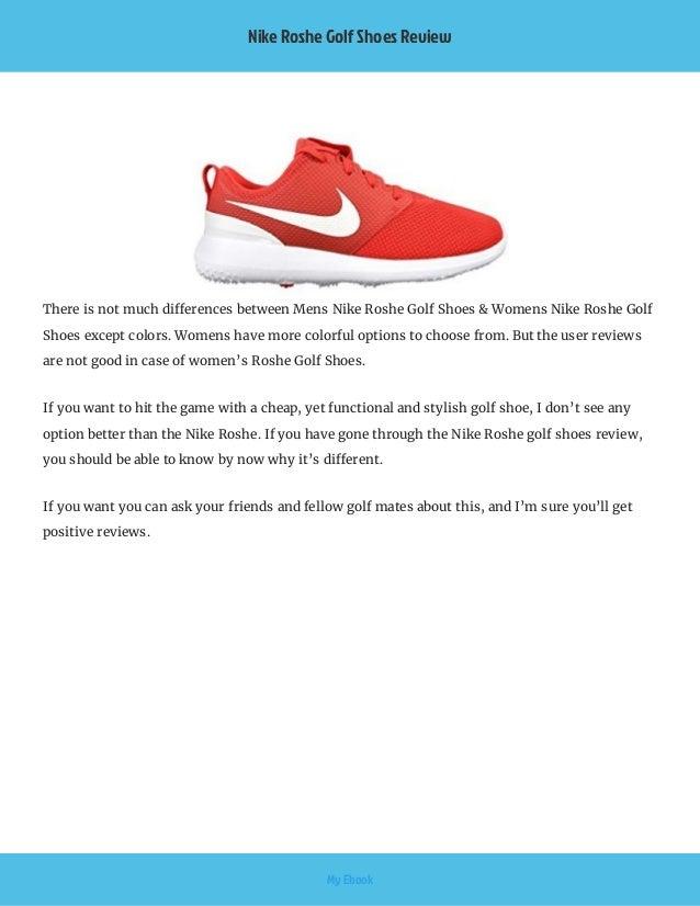 piuttosto bella negozio online negozio ufficiale Nike roshe golf shoes review