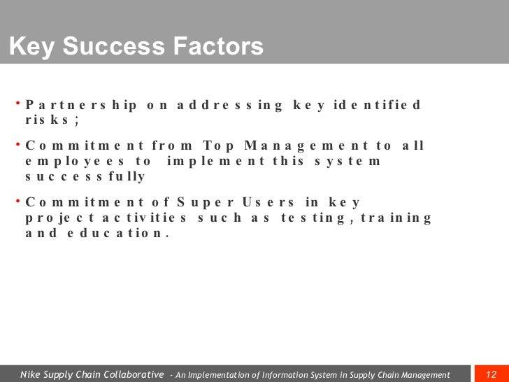 ... 12. Key Success Factors ...