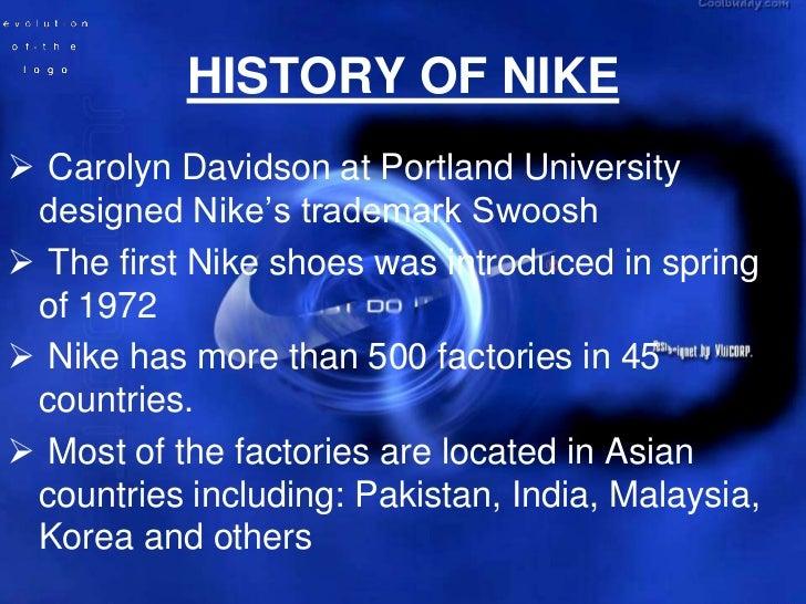 HISTORY OF NIKE ...