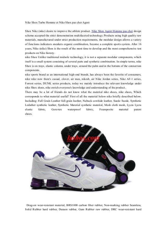 sports shoes c2dcd 0af97 Nike Shox Turbo Homme et Nike Shox pas cher Agent Shox Nike (nike) desire  ...