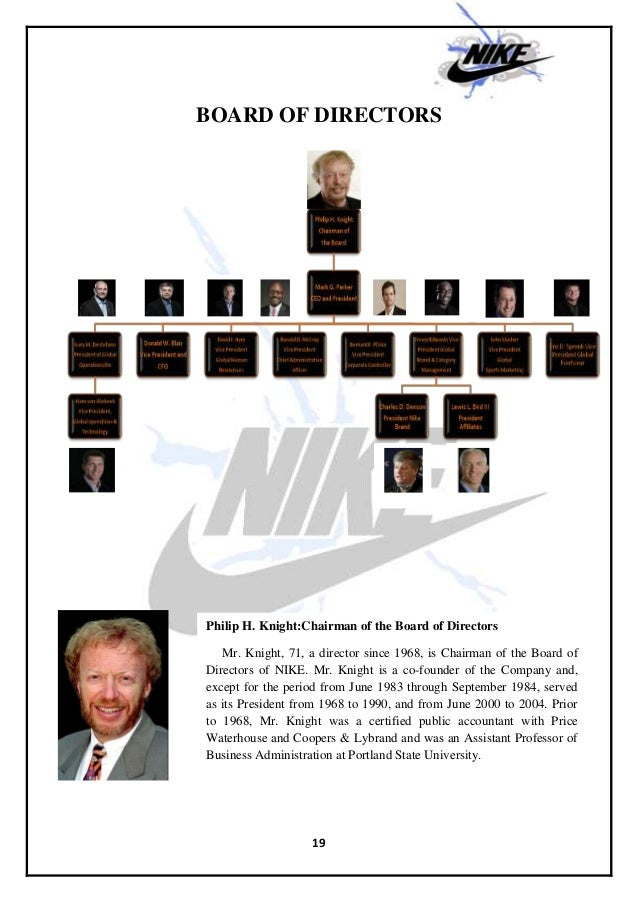 Nike and its Organizational Structure